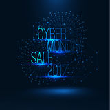 Cyber monday sale 2017 illustration . Big global sale . Royalty Free Stock Photos