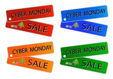 Cyber Monday Sale on Muti Colors Labels Stock Photography