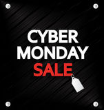 Cyber Monday Sale with price tag. Vinyl background. Vector illustration Stock Image