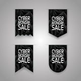 Cyber monday sale ribbon elements. Sales promotion Stock Photography