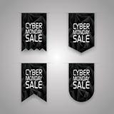 Cyber monday sale ribbon elements. Sales promotion Stock Photography