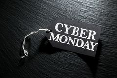 Cyber Monday Sale tag background Royalty Free Stock Photo