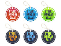 Cyber Monday Sale Tags Stock Photo