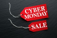 Cyber Monday Sale tags Stock Images