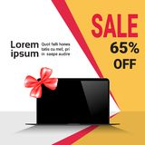 Cyber Monday Sale Template Banner Discounts On Modern Laptop Royalty Free Stock Images