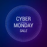 Cyber Monday Sale vector banner. EPS 10 vector illustration royalty free illustration