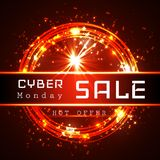 Cyber Monday Sale vector banner template royalty free illustration