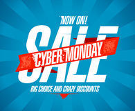 Cyber monday sale vintage design Stock Photography