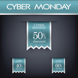 Cyber monday sales web elements. Royalty Free Stock Photo