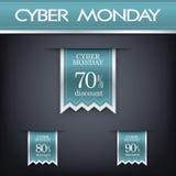 Cyber monday sales web elements. Cyber monday sales web elements with banners and discounts. Eps10 vector illustration Stock Photos