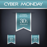 Cyber monday sales web elements. Cyber monday sales web elements with banners and discounts. Eps10 vector illustration Royalty Free Stock Images