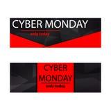 Cyber monday sales web elements Stock Photos