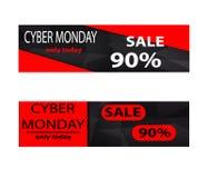Cyber monday sales web elements Stock Photography