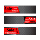 Cyber monday sales web elements Royalty Free Stock Photography