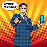 Cyber Monday the seller is encouraged to buy Royalty Free Stock Images
