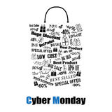 Cyber Monday shopping bag Stock Images