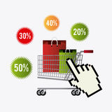Cyber monday shopping design. Royalty Free Stock Image