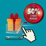 Cyber monday shopping design. Stock Image