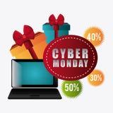 Cyber monday shopping season Stock Image