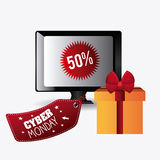 Cyber monday shopping season Royalty Free Stock Photo