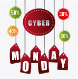 Cyber monday shopping season Stock Photography