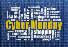 Cyber Monday shopping Royalty Free Stock Image