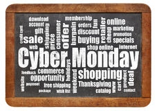 Cyber Monday shopping Stock Image