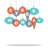 Cyber monday spelled by Christmas ornaments. EPS 10  illustration Stock Photography