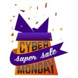 Cyber Monday Super Sale advertising festive poster vector illustration