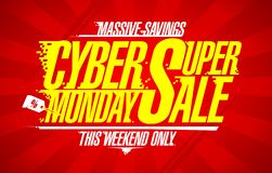 Cyber monday super sale, banner concept royalty free illustration
