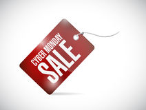 Cyber monday tag illustration design. Over a white background Royalty Free Stock Images