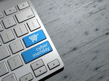 Cyber monday, technology sales, online shopping, shopping offers. Stock Photo