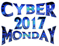 Cyber Monday 2017  text on white background. 3d rendering. Cyber Monday 2017  text on white background Royalty Free Illustration