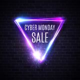Cyber Monday triangle design for banner sign label royalty free illustration