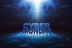 Cyber Monday written on search bar. In virtual screen Royalty Free Stock Image