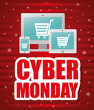 Cyber mondays e-commerce promotions and sales Stock Images