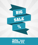 Cyber-Montag-Design Lizenzfreies Stockbild