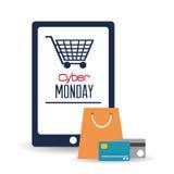 Cyber-Montag-Design Stockfotos