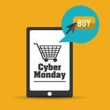 Cyber-Montag-Design Stockfoto