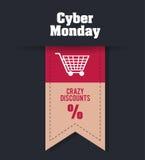 Cyber-Montag-Design Lizenzfreie Stockfotos