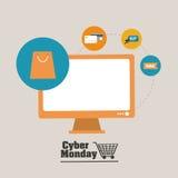 Cyber-Montag-Design Lizenzfreie Stockfotografie