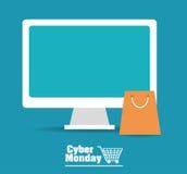 Cyber-Montag-Design Stockbilder