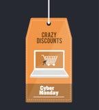 Cyber-Montag-Design Lizenzfreie Stockbilder