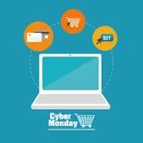 Cyber-Montag-Design Stockfotografie