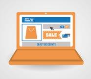 Cyber-Montag-Design Stockbild
