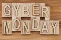 Cyber Montag - on-line-Einkaufs- und Marketing-Konzept - Text, flehen an Lizenzfreie Stockfotografie