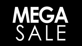 Cyber-Montag-Störschubeffektfahne Mega- Verkauf stock video footage
