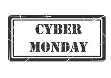 Cyber-Montag-Stempelfahnen-Designförderung Stockfoto