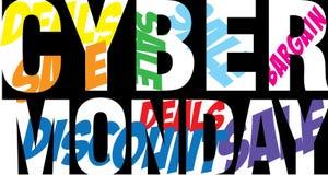 Cyber-Montag-Text Lizenzfreie Stockbilder