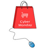 Cyber-Montag-Verkauf Lizenzfreie Stockbilder
